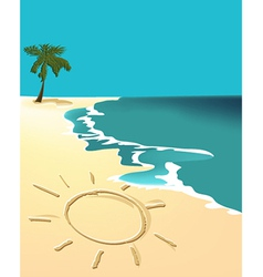 Sunny holiday beach vector