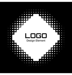 Abstract white halftone logo design element vector