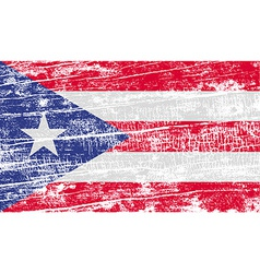 Flag of puerto rico with old texture vector