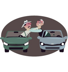 Road rage vector