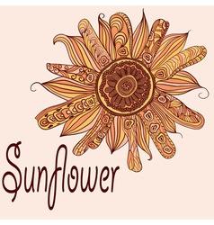 Hand drawn sunflower vector