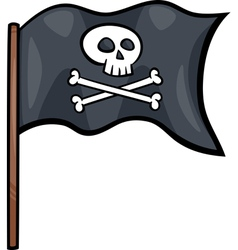 Pirate flag cartoon clip art vector