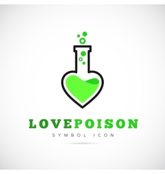 Love poison concept symbol icon or logo template vector