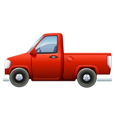 A red pickup vector