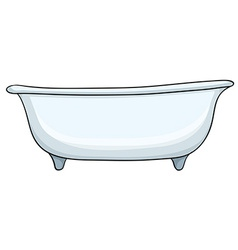 White bathtub vector