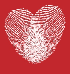 Heart finger prints vector