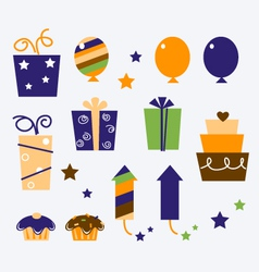 Celebration gifts vector