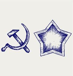 Soviet star icon vector