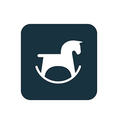 Horse toy icon rounded squares button vector