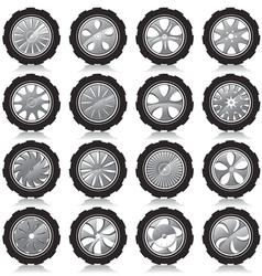 Alloy wheel black vector