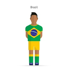 Brazil football player soccer uniform vector