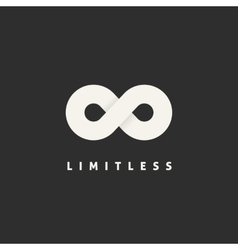 Limitless concept symbol icon or logo template vector