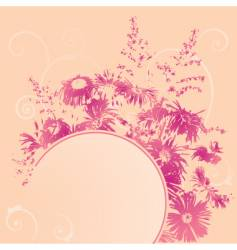 Banner with bush of flowers vector