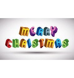 Merry christmas greeting card with phrase made vector