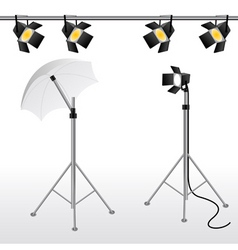 Film studio scene vector