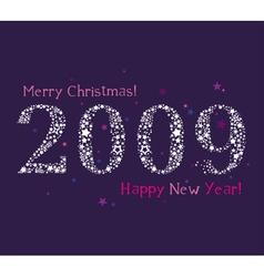 2009 stars new year vector