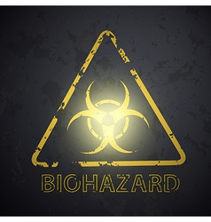 Wall with a picture of the biohazard symbol vector