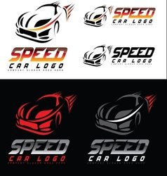 Speed car design creative vector