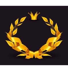 Design element emblem gold vector