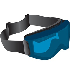 Tinted ski goggles vector