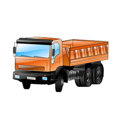 Construction car vector