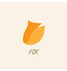 Stylized silhouette of fox on a light background vector