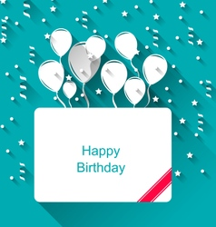 Greeting invitation with balloons for happy vector