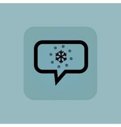 Pale blue snow message icon vector