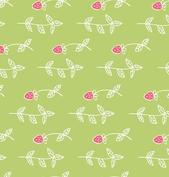 Cute seamless texture with perfect flowers and vector