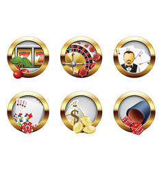 Casino buttons vector