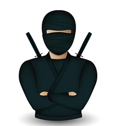 Ninja warrior avatar vector