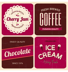 Retro design packaging set vector