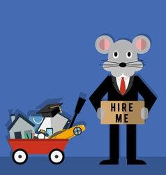 Rats life problems vector