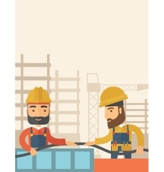Two builders vector