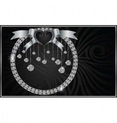 Valentine background with the diamonds vector