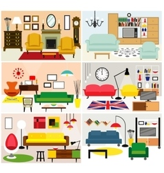 Furniture ideas for living room vector
