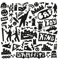 Graffiti spray paint doodles vector