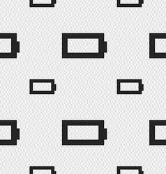 Battery empty icon sign seamless pattern with vector