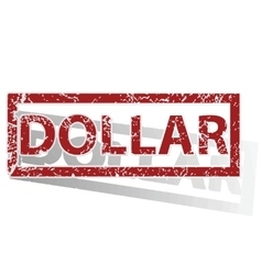 Dollar outlined stamp vector