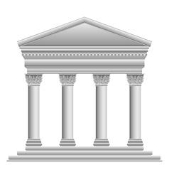 Corinthian temple vector