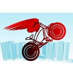 Cyclist urban vector
