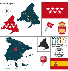 Map of madrid vector