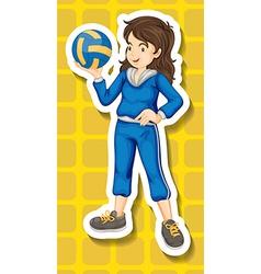 Sport girl vector