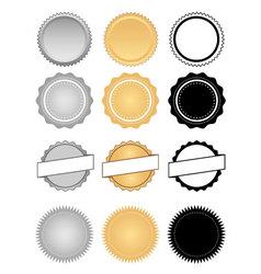 Labels seals badges and wax emblem set vector