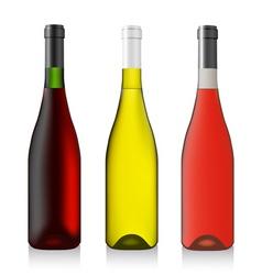 Three bottles wine vector