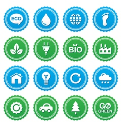 Eco green labels set - ecology recycling vector