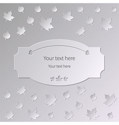 Autumn text vector
