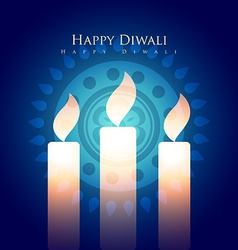 Diwali candles vector