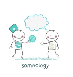 Somnology gives the patient pill vector