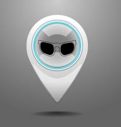 Glossy sunglasses icon vector